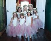 Sweet Flower Girl TuTu(size 6-24 mo). CUSTOM COLOR tutu, Flower Girl tutu, Baby tutu, Custom Girls tutu, Birthday tutus, Wedding tutu