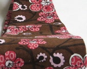 Womens Red & Brown Funky Japanese Print Wide Headbands