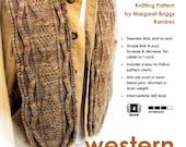 Scarf Knitting Pattern - Western Diamondback Scarf - Instant Download PDF Pattern to Knit