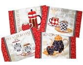 Bistro Placemats & Napkins, Coffee Mug Placemats, Coffee Pots and Mugs