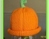 Premie Pumpkin Hat  Free shipping