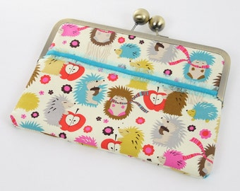 Gift for Her, Cute iPad Mini Case in Hedgehogs, Woodland Animals Nook Case, Kindle Fire Case