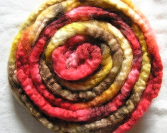 110g Wensleydale spinning fibre Harvest