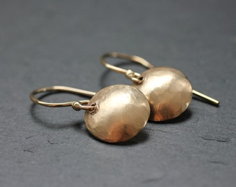 Tiny Gold Fill Hammered Earrings