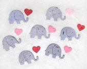 100 Plantable Seed Paper Confetti Elephants - Elephant Baby Shower Favors - Flower Seed Confetti Elephants
