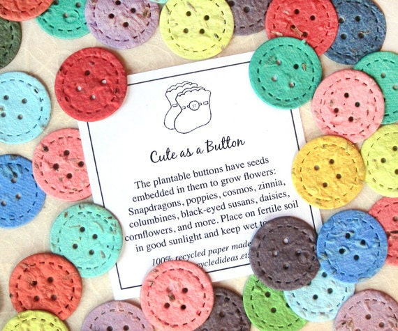10 100 cute as a button baby shower favors plantable seed