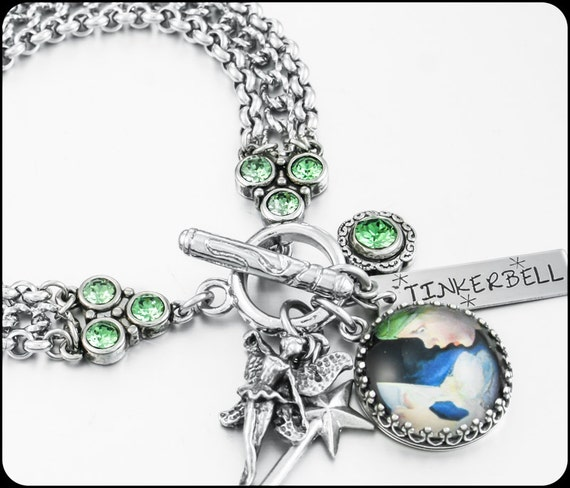 Tinkerbell Fairy Bracelet Fairy Jewelry By BlackberryDesigns