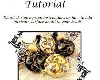 Kerribeads Tutorial Lampwork Tapestry Scrollwork - Instant Download PDF file
