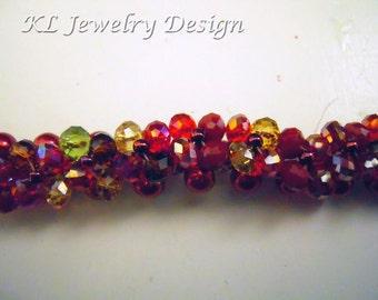 Autumn Colors Woven Bracelet