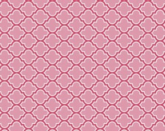 Joel Dewberry's  True Colors,  Lodge Lattice in Pink, yard