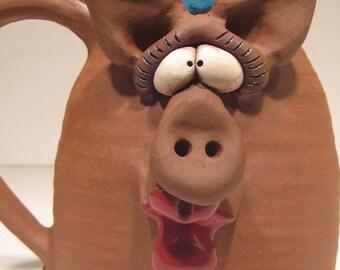 Happy Piggly Wiggly Kissie Pig Mug ... Oink y Smooch .....                            e450