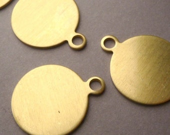 3 Brass Round ID Blanks Nameplates Dog Tags 26 mm