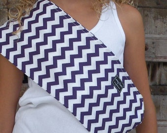 Just Like Mommy Baby Doll Sling-Perfect For American Girl Dolls-Purple Chevron-Free Shipping When Purchased With a Wrap