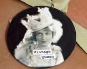 Vintage Queen Magnet  3 inch mylar M115