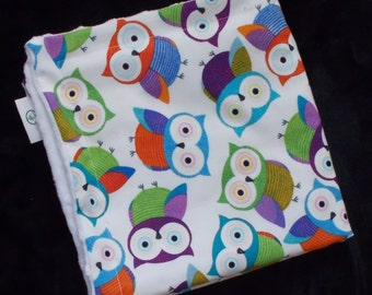 Bright Owls Minky Security Blanket Lovey