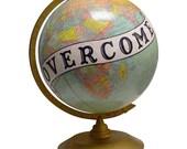 Overcome, Vintage Globe Art