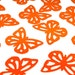 Bright Orange Butterfly Cutouts
