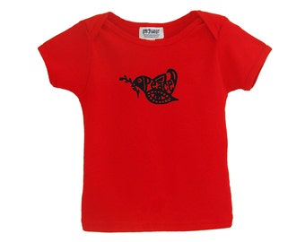 Red peace kids tshirt American Apparel cotton
