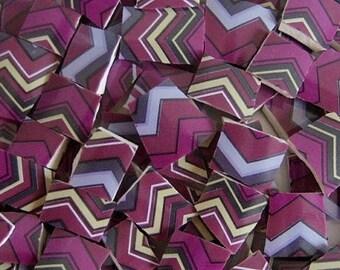Mosaic Tiles --Chevron Berry Purple-- Mosaic Tiles--100 Pieces