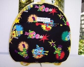 My Carrie Baby/Toddler Backpack made with Yo Gabba Gabba Fabric
