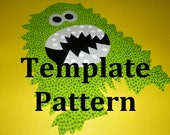 Applique PDF TEMPLATE Pattern....FUZZY Beast Monster....New