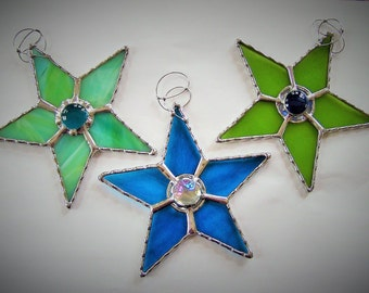 Stained Glass Star Suncatcher Ornament