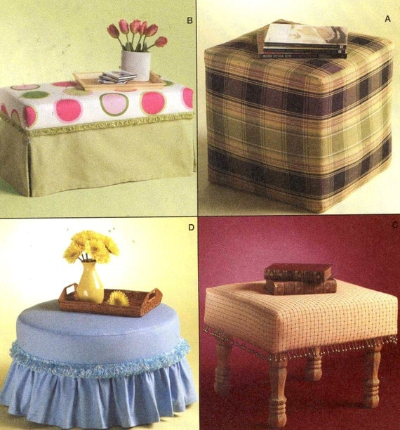 Items Similar To Ottoman Decor Pattern Home Decor Trading Spaces Sewing Pattern Mccalls 4734