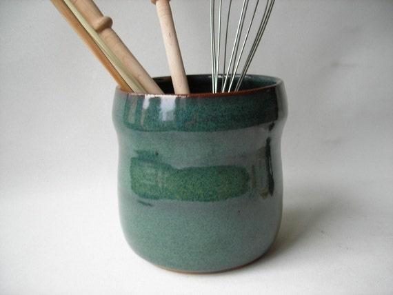 Kitchen utensil holder pottery spoon holder - Unique kitchen utensil holder ...