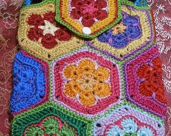 Itty Bitty Crocheted Flower Purse