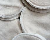 Nursing PADS ORGANIC Bamboo Velour......Nursing is Fashionable.....Save with Bulk Listing....7 Pairs