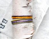 Handcrafted Bangle Set - 'London Honey' - 5 Piece Set - Jewel Toned Enamel Bracelets