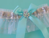 Beautiful Garter, Weddings, Wedding Garters, Bridal Garters, Something Blue