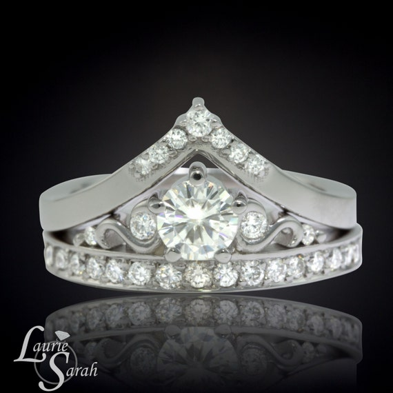 wonder woman wedding ring moissanite engagement ring moissanite tiara ring forever 1477