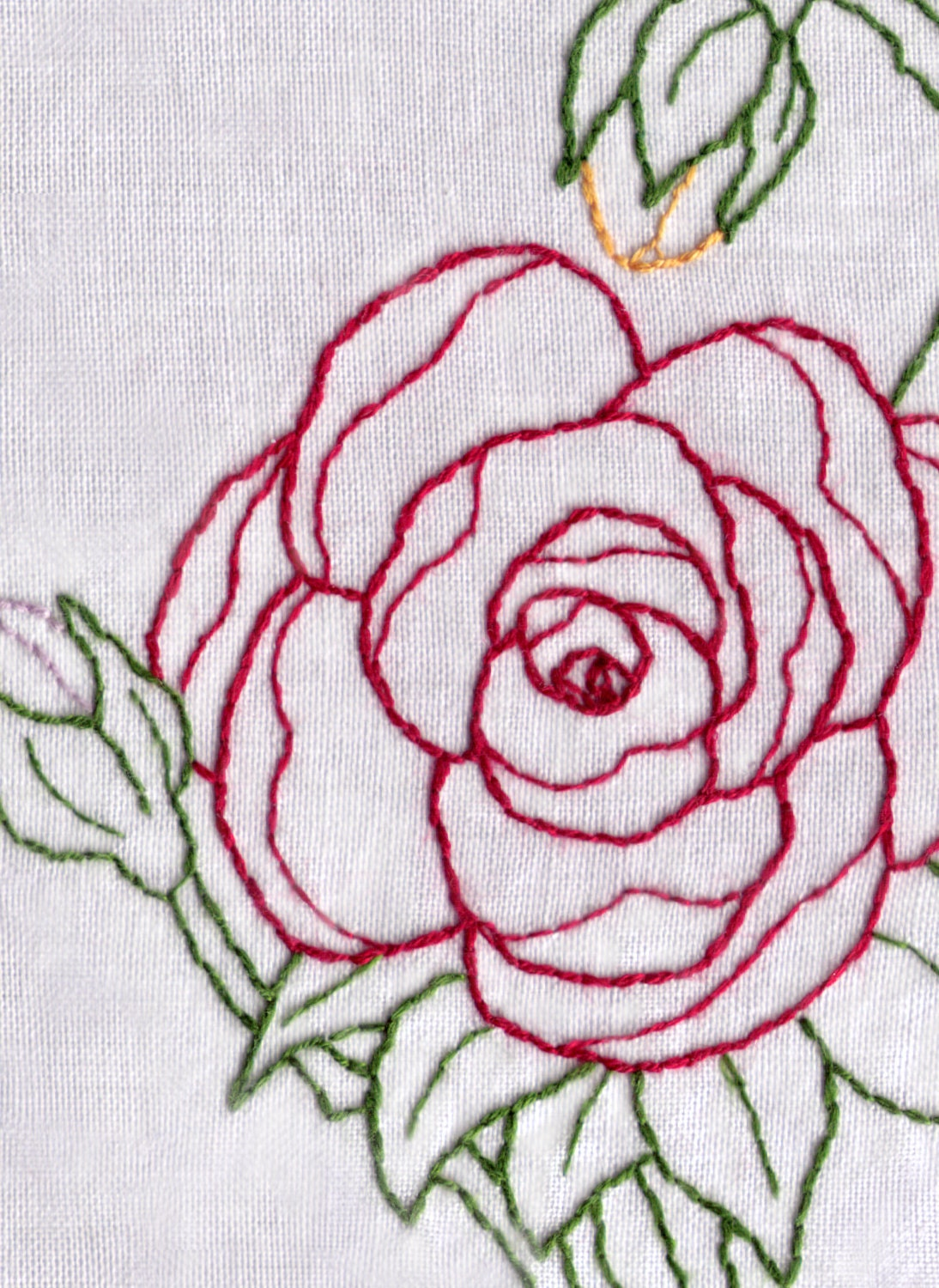Rose hand embroidery pattern pdf blossom and buds