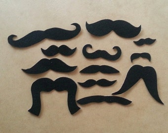 Mustache Party Pack (100 staches), Adhesive Mustaches, Moustache, Adhesive Moustache, Moustache, Mustache Party Favors, Fake Mustache, Grad