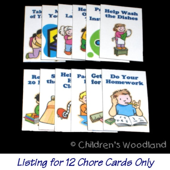CHORE CHART SET - Additional Chores for 6-8 Year Olds