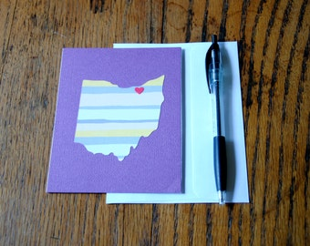 I Heart Ohio, Greeting Card