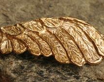 Angel Wing Bracelet Link in Gold Bronze