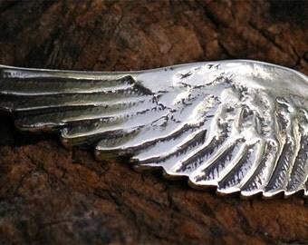 Artisan Angel Wing Bracelet Link with Extra Loop in Sterling Silver, 210As
