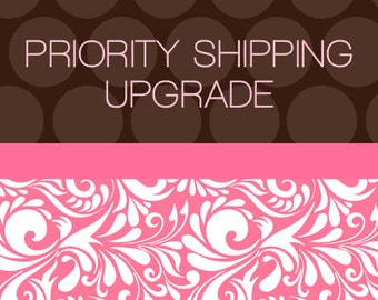 Priority upgrade for shipping for orders UP to 75.00 before shipping