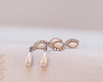 Something Old – Vintage Sparkly Rhinestone Earrings