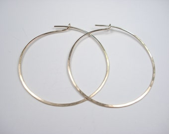 Gold, Hoop, Earring, 14k Gold Fill, Wire
