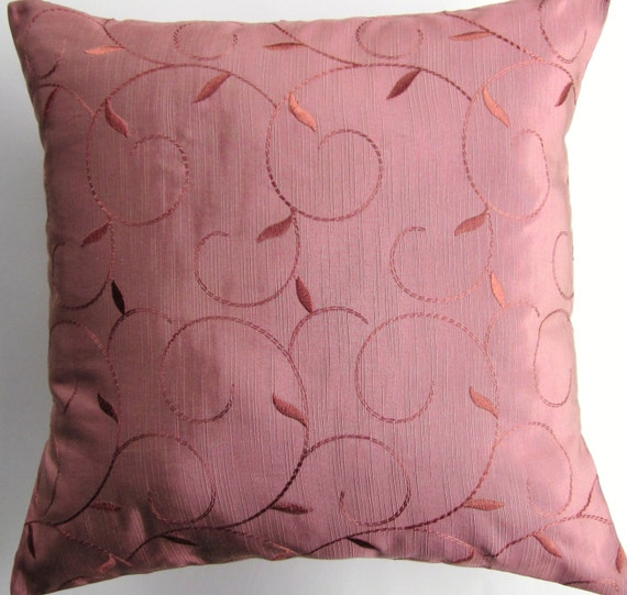 Pink Pillow Cover Dusty Rose Throw Pillow Cushion Cover 16