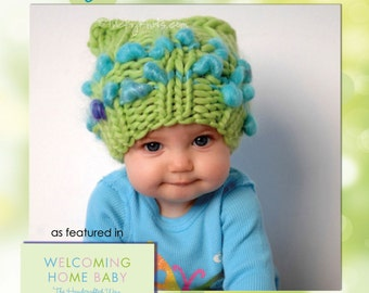 KNITTING KIT - Customize your Baby Girl or Boy Hat Chunky Newborn Photo Prop Sweet Dreams - Your pick the colors
