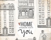 Home Is Wherever I'm With You- Beautifully textured cotton canvas art print. Order as an 8x10 11x14 or 16x20 size.