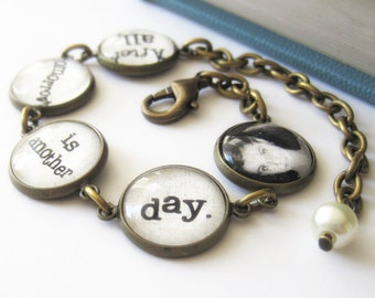 Gone with the Wind Quote Antique Brass Bracelet