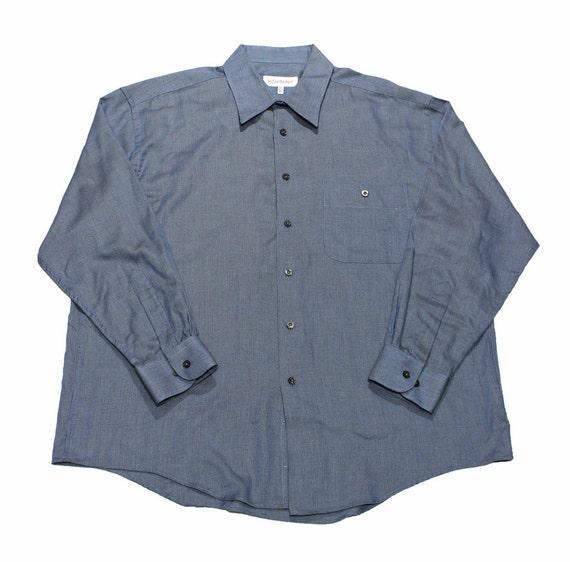 Vintage yves saint laurent button up shirt mens size 17 32 33 for 17 33 shirt size