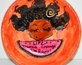 Luscious Art mini Roundette- Life Means CHANGE i'M Ready! (orange matte)