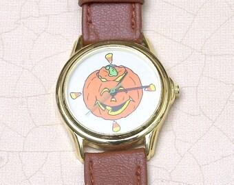 For Halloween or Fall - The Great Pumpkin Quartz Wrist Watch
