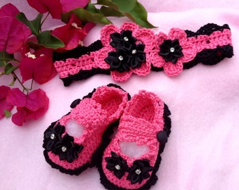 Baby Booties and Headband Set-Creme Brulee Luxury Baby Bling Spring-Summer Collection